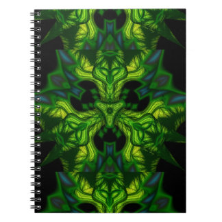 Green Man Goblin – Emerald and Gold Mask Spiral Notebooks