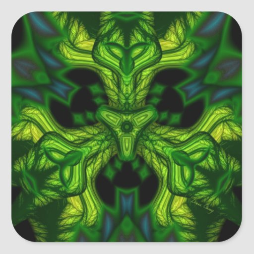 Green Man Goblin – Emerald and Gold Mask Stickers