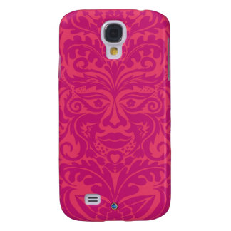 Green Man in 2 tones of Pink Galaxy S4 Case