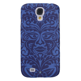 Green Man in Blues and white Galaxy S4 Case
