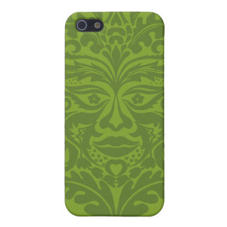 Green Man in Green and White Case For The iPhone 5