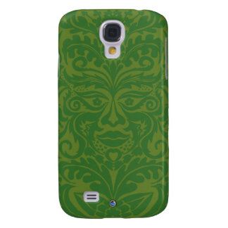 Green Man in Green and White Galaxy S4 Case