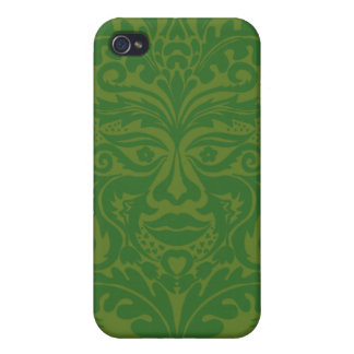 Green Man in Green and White iPhone 4/4S Cases
