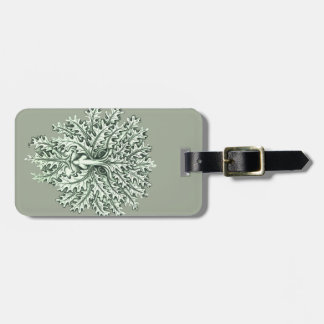 Green Man Luggage Tag