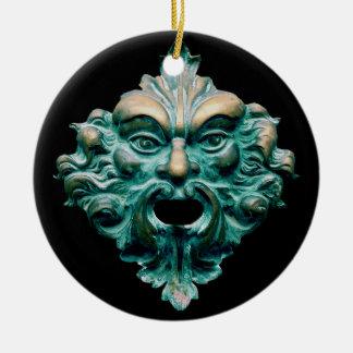 Green Man on Black Christmas Ornaments