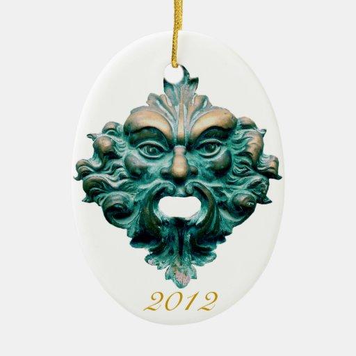Green Man on Oval & 2012-CC0000 Christmas Ornament