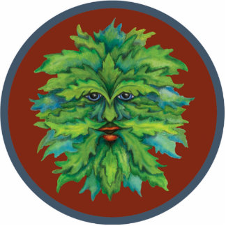 Green Man Ornament Cut Out