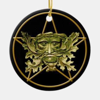 Green Man & Pentagram #1 - Ornament