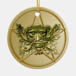 Green Man Pentagram 2 - Ornament