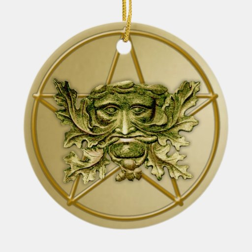 Green Man & Pentagram #2 - Ornament