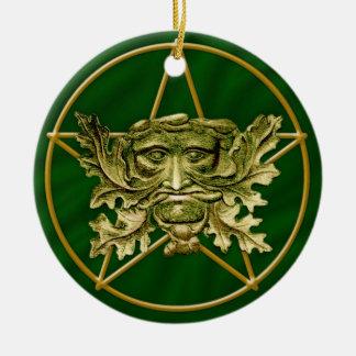 Green Man & Pentagram #3 - Ornament