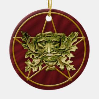 Green Man & Pentagram #4 - Ornament