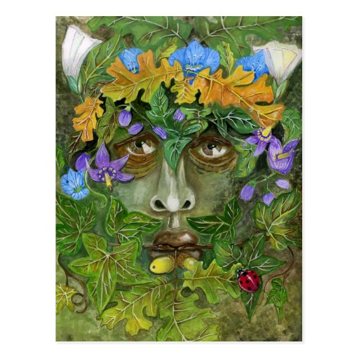 Green man post card