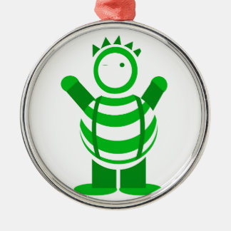 Green man Silver-Colored round decoration