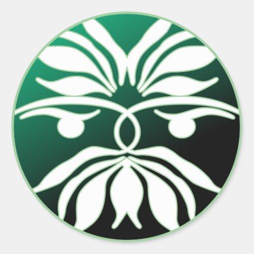 Green Man Sticker