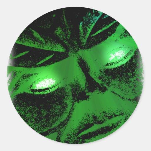 Green Man Stickers
