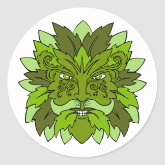 Green Man Stickers