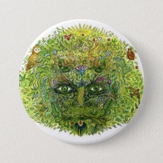 Green Man, WoodWose, Foliate Head, Pagan, Wiccan 7.5 Cm Round Badge