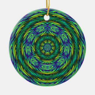 Green Mandala Christmas Ornament