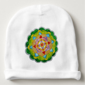 Green Mandala Custom Baby'sCotton Rib Infant Hat Baby Beanie