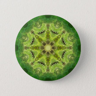 Green mandala ''Meadow' 6 Cm Round Badge