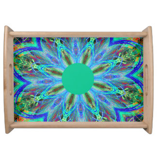 Green Mandala Serving Tray