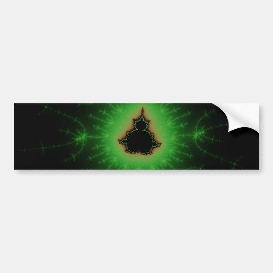 Green Mandelbrot Set Bumper Sticker
