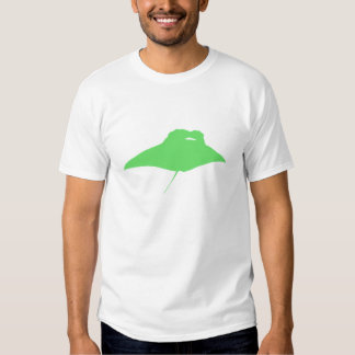 Green Manta Ray Tee Shirts