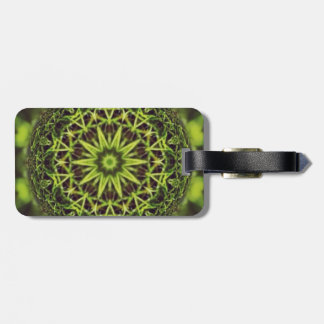 Green Marble Fractal Art Luggage Tag