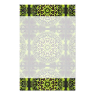 Green Marble Fractal Art Stationery