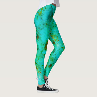Green marble leggings