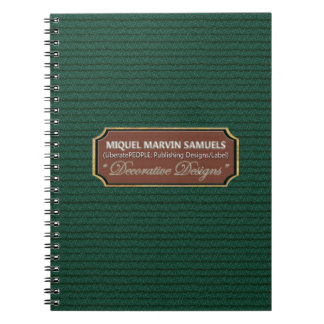 Green Marble Pattern Decorated Modern Notebook