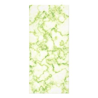 Green Marble Pattern Personalised Rack Card