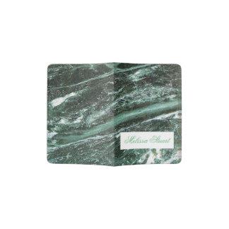 Green Marble Stone Texture Custom Passport Holder