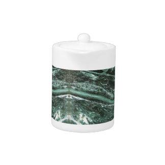 Green Marble Stone Texture Emerald  Teapot