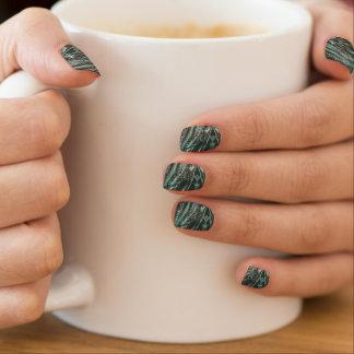 Green Marble Stone Texture Minx Nail Art