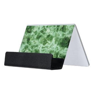 Green Marble Texture Desk Business Card Holder