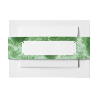 Green Marble Texture Invitation Belly Band