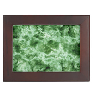 Green Marble Texture Keepsake Box