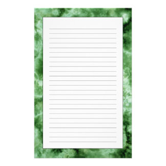 Green Marble Texture Stationery