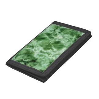 Green Marble Texture Tri-fold Wallet