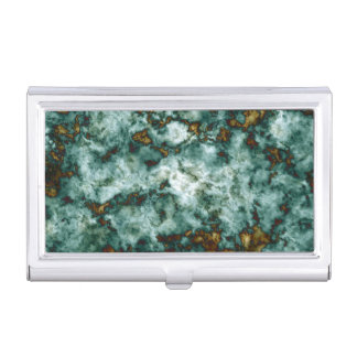 Green Marble Texture With Veins Business Card Holder