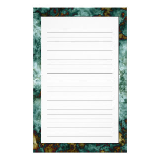 Green Marble Texture With Veins Customized Stationery