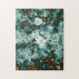 Green Marble Texture With Veins Jigsaw Puzzle