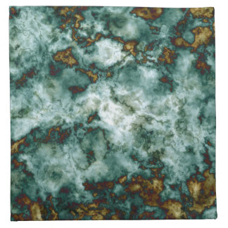Green Marble Texture With Veins Napkin