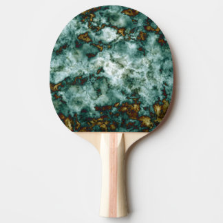 Green Marble Texture With Veins Ping Pong Paddle