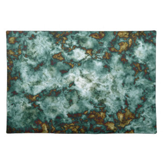 Green Marble Texture With Veins Placemat