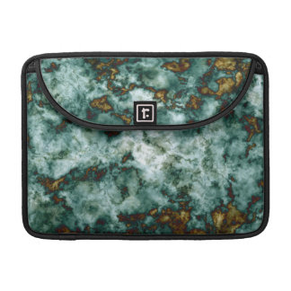 Green Marble Texture With Veins Sleeve For MacBooks