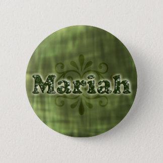 Green Mariah 6 Cm Round Badge