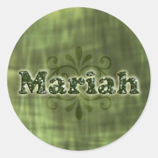 Green Mariah Round Sticker